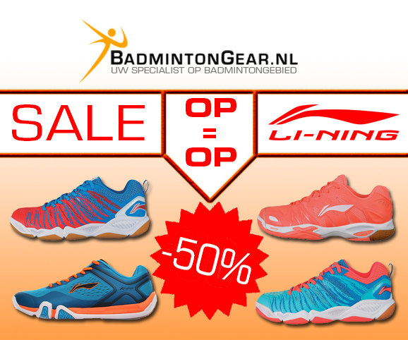 Now all badmintonshoes of Li-Ning with 50% discount. Don't wait too long, because until stock lasts