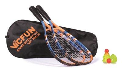 Victor Vicfun Speed Badminton Set 100 JR Blue/Orange