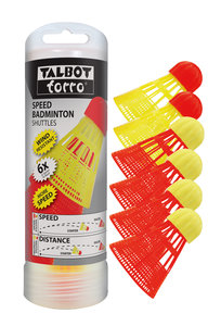 Talbot Torro Speedbadminton Shuttles 6-pack