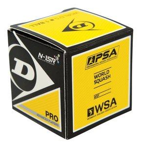 Dunlop Pro Squashbal dubbel geel
