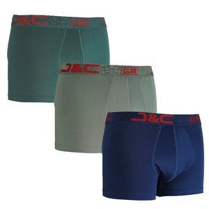 J&C Club Boxershorts Men 3-pack Blue / Green / Grey