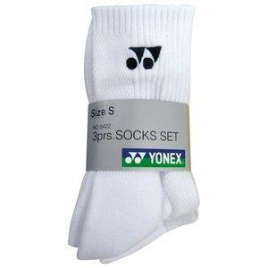 Yonex Socks 8422 White 3-pack