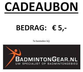 Cadeaubon 5 euro