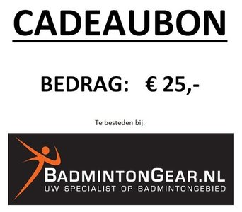 Cadeaubon 25 euro
