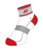 Yonex Socks 9082 White/Red