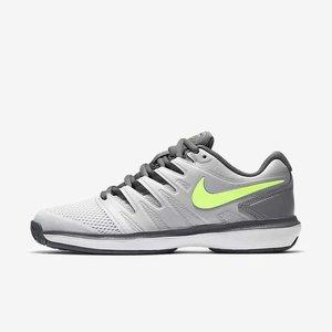 meet 78dd3 2a124 Nike Air Zoom Prestige HC Grey/Green tennnis schoenen kopen ...