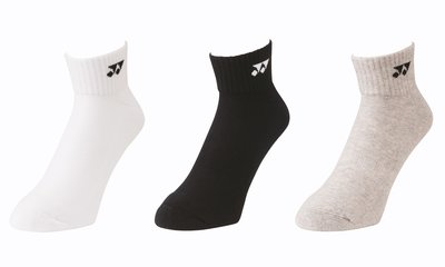 Yonex Socks 19142 White/Black/Grey 3-pack