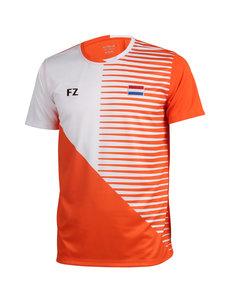 FZ Forza T-Shirt Men Harlem National NL Orange/White (with flag + print)