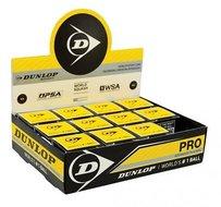Dunlop-Pro-Squashbal-dubbel-geel-12-pack